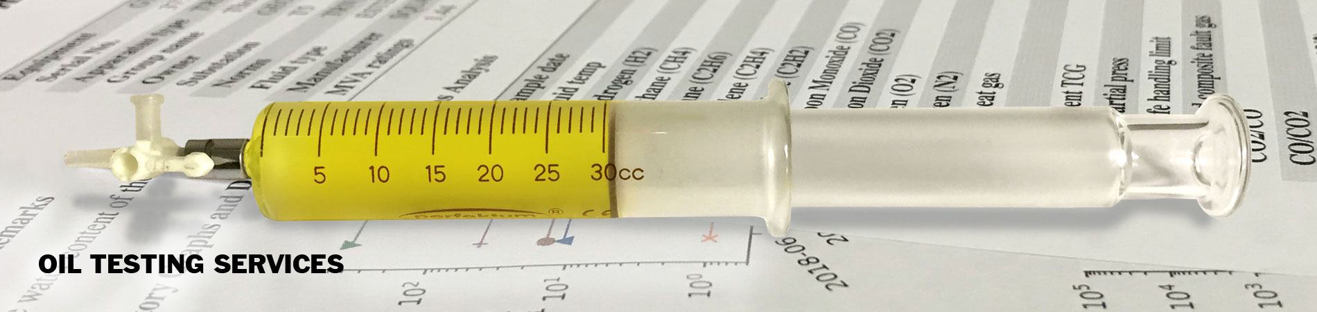 Oil Sampling Syringe Oil Tests Dissolved Gas